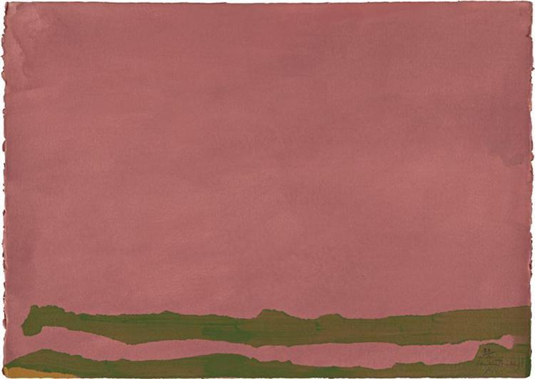 Green Likes Mauve, 1970 - Helen Frankenthaler