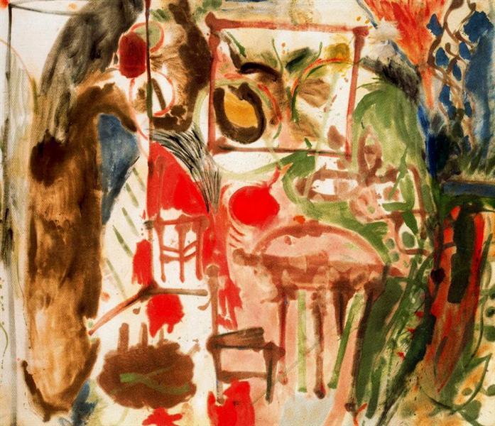 Interior, 1957 - Helen Frankenthaler