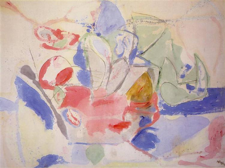 Mountains and Sea, 1952 - Helen Frankenthaler