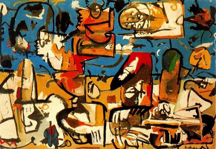 Untitled, 1951 - Helen Frankenthaler