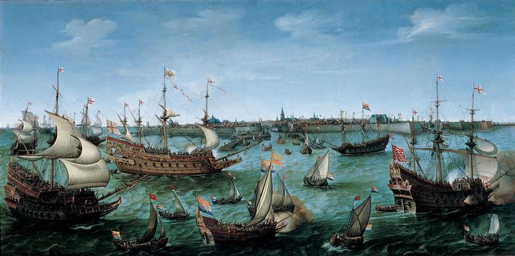 The Arrival at Vlissingen of Frederick V, Elector Palatine, 1632 - Hendrick Cornelisz Vroom