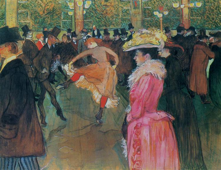 At the Moulin Rouge, The Dance, 1890 - Henri de Toulouse-Lautrec