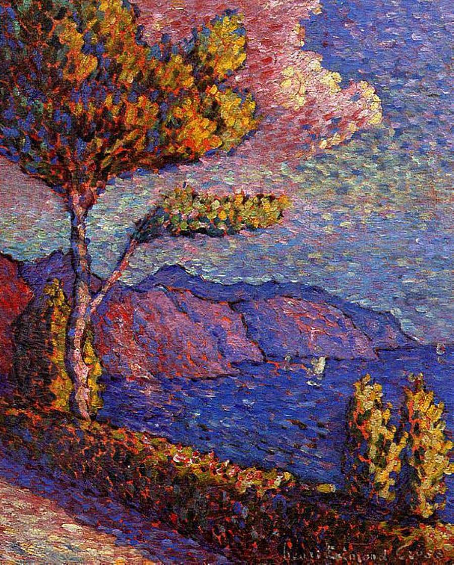 Quelque chose de nouveau assez The Pine Tree at St. Tropez, 1909 - Paul Signac - WikiArt.org #PK_93