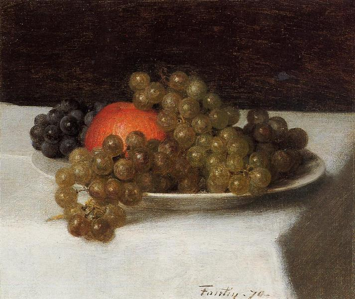 Apples and Grapes, 1870 - Henri Fantin-Latour