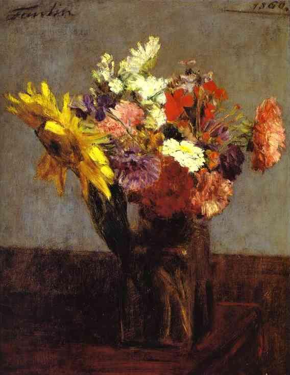 Bouquet Of Flowers 1860 Henri Fantin Latour