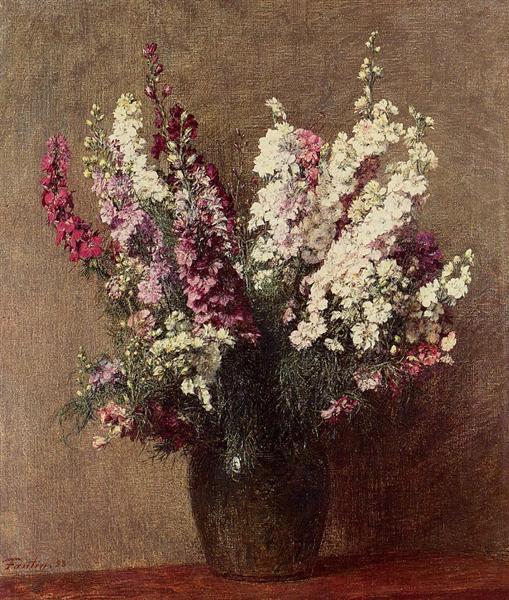 Larkspur, 1888 - Henri Fantin-Latour