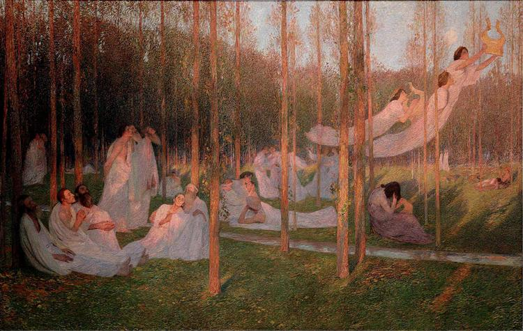Serenity, illustration for Book VI of the Aeneid - Henri Martin