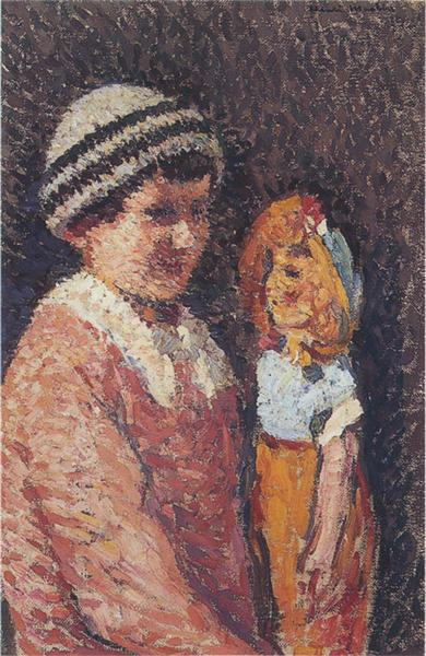 Young Girl with Doll - Henri Martin