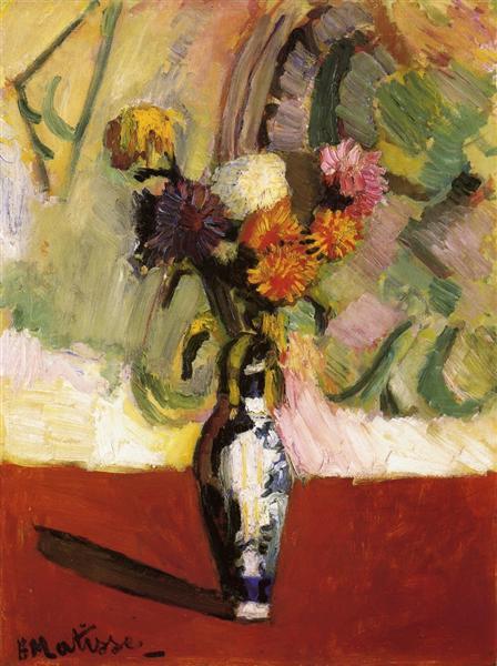 Chrysanthemums in a Chinese Vase, 1902 - Henri Matisse