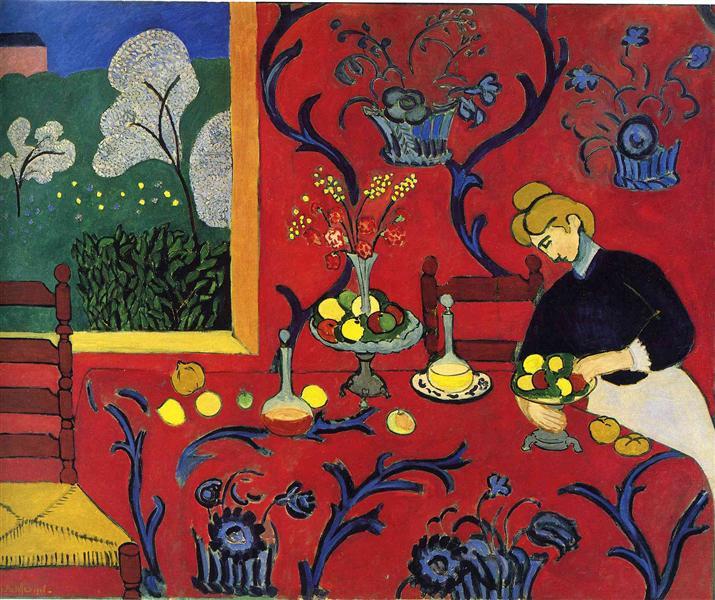 Harmony in Red, 1908 - Henri Matisse