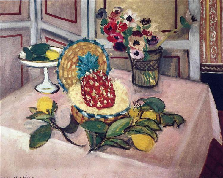 Still Life with Pineapples - Henri Matisse