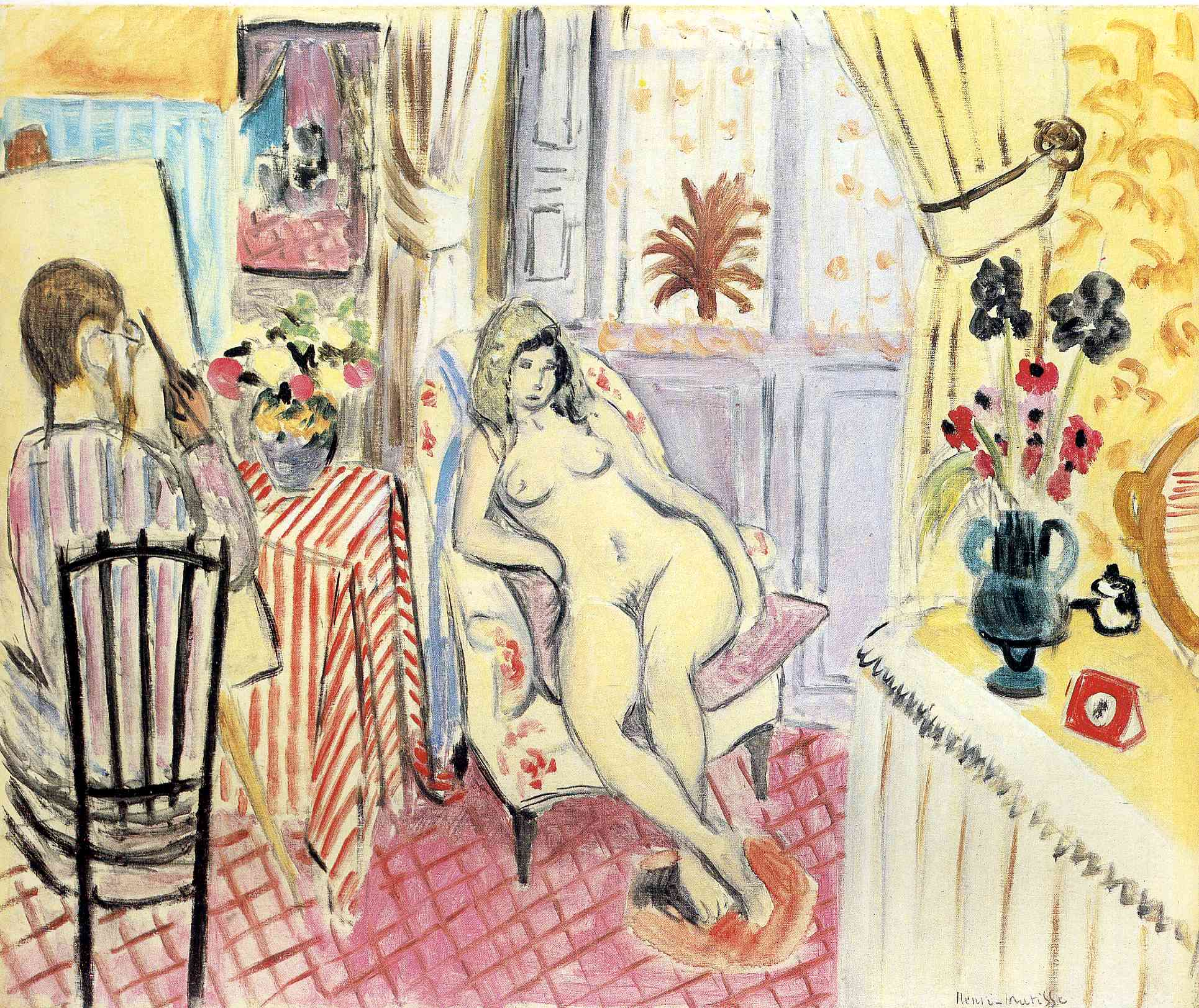 The Artist and his model, 1919 - Henri Matisse - WikiArt.org