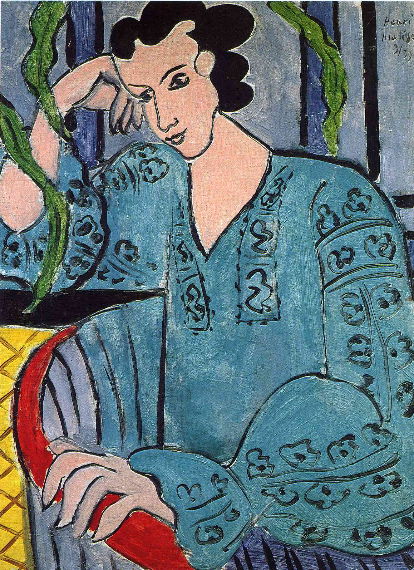 File:Henri Matisse, 1913, Portrait of the Artists Wife