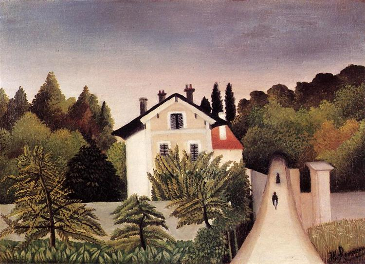 House on the Outskirts of Paris, 1902 - Henri Rousseau