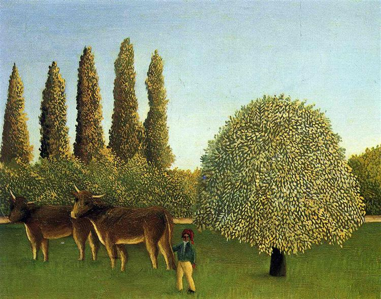 In the Fields, 1910 - Henri Rousseau