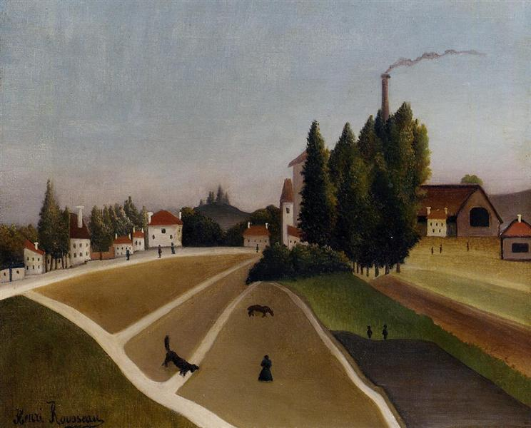 Landscape with Factory, 1896 - 1906 - Henri Rousseau