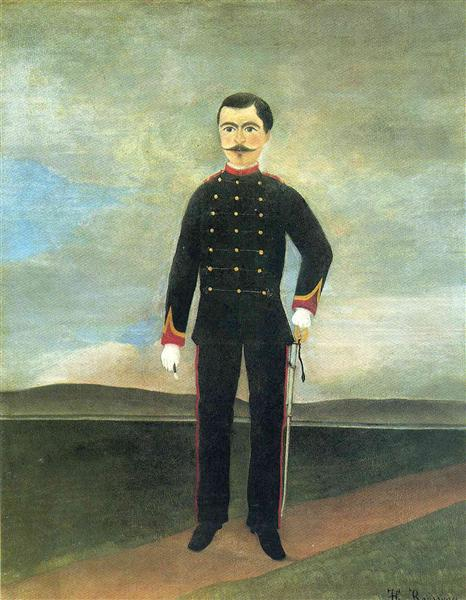 Marshal des Logis Frumence Biche of the 35th Artillery, c.1893 - Henri Rousseau