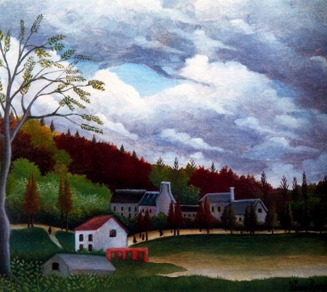 El Bievre en Gentilly - Henri Rousseau