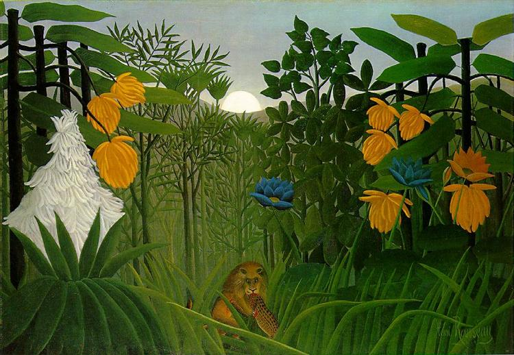 The Repast of the Lion, 1907 - Henri Rousseau