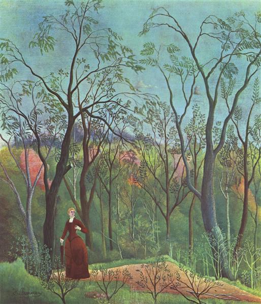 El paseo en el bosque - Henri Rousseau