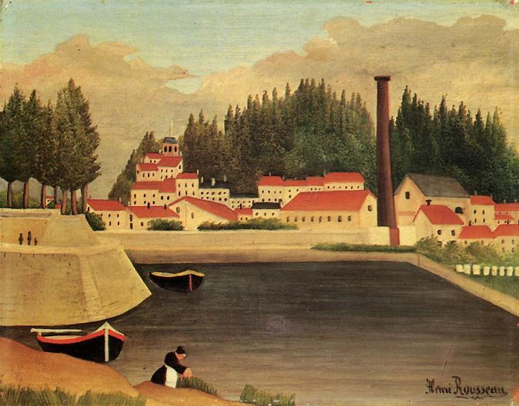 Village near a Factory, 1907 - 1908 - Henri Rousseau