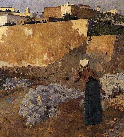 Mulher da Água, 1883 - Henrique Pousao