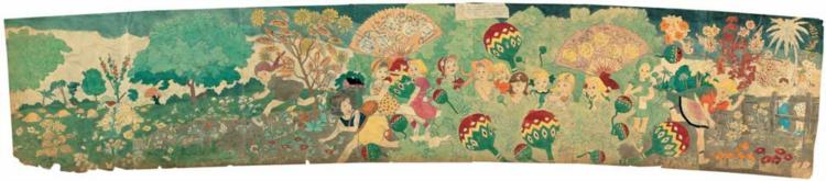 195 Are unsuccessfully attacked by Glandelinian soldiers unseen in picture - Henry Darger