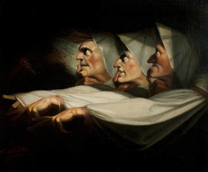 'Macbeth', acto I, escena 3, las hermanas oe - Henry Fuseli