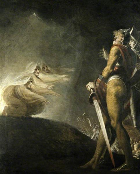 Macbeth, Banquo y las brujas - Henry Fuseli