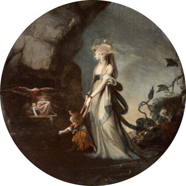 Mamillius Conjuring up Sprites and Goblins for His Mother, Hermione, 1786 - Johann Heinrich Füssli
