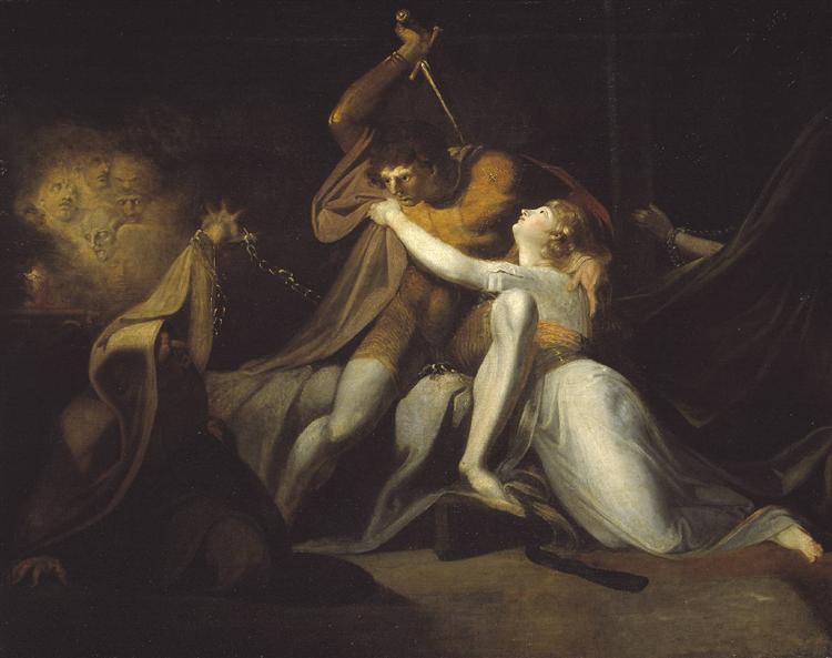 La entrega de Percival Belisane del encantamiento de Urma - Henry Fuseli