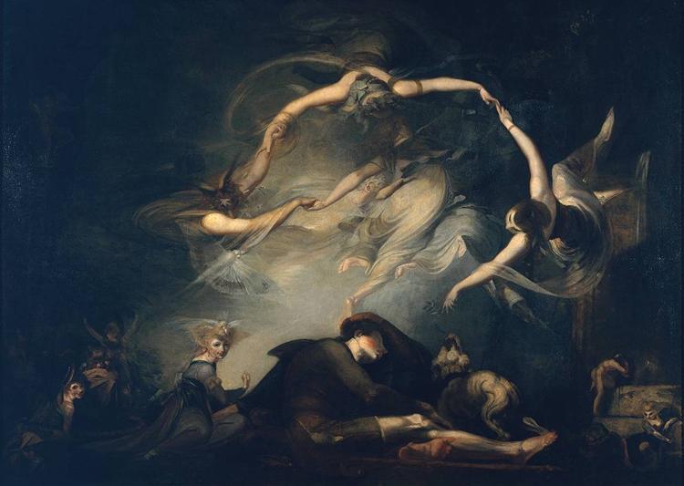 """El sueño del pastor, del """"paraíso perdido"""" - Henry Fuseli"""