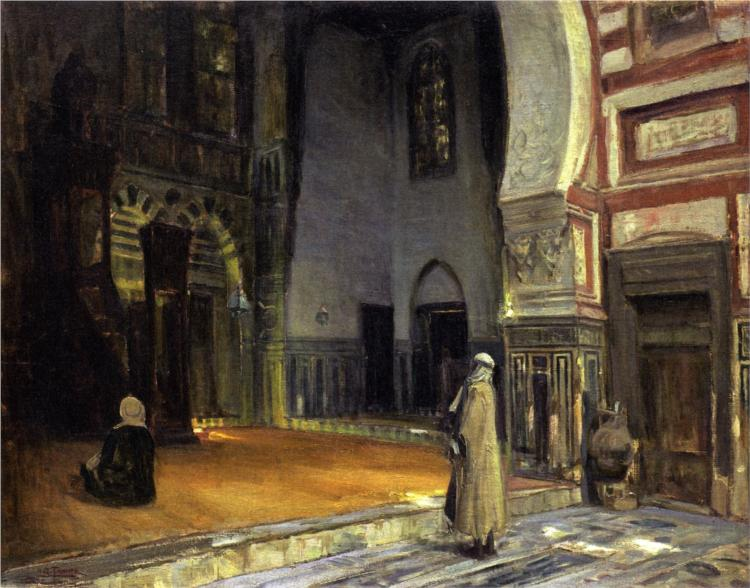 Interior of a Mosque, Cairo, 1897 - Henry Ossawa Tanner