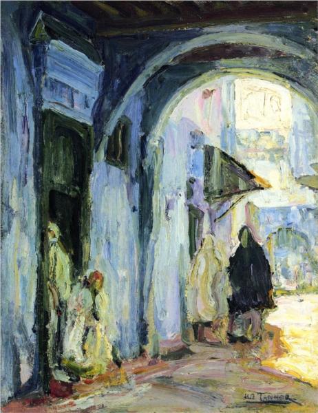 Street in Tangier, 1912 - Henry Ossawa Tanner