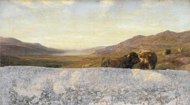 Landscape with Cattle, Evening, 1896 - Henry William Banks Davis