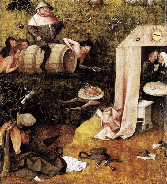 Allegory of Gluttony and Lust, 1490 - 1500 - Hieronymus Bosch