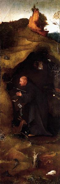Hermit Saints Triptych (right panel), c.1505 - Hieronymus Bosch