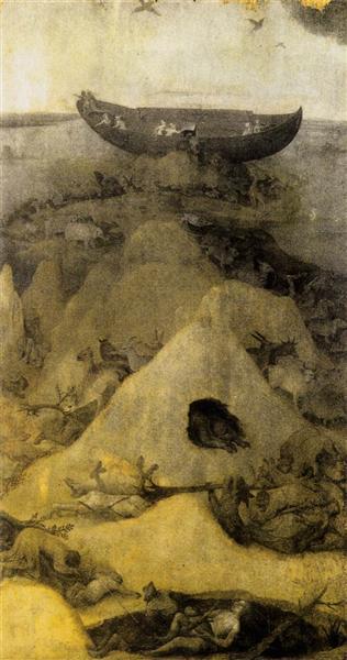 Ноев ковчег на горе Арарат (аверс), c.1514 - Иероним Босх