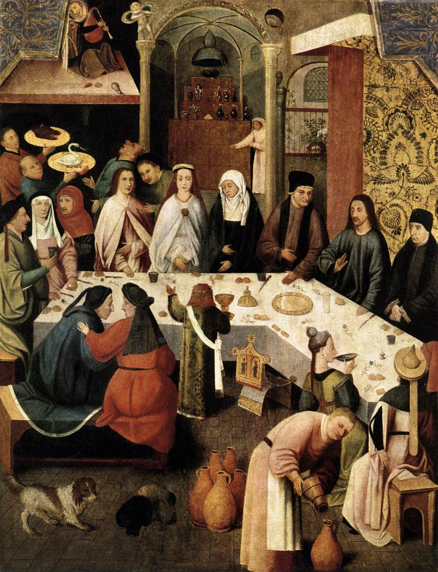 the marriage feast at cana 1500 hieronymus bosch. Black Bedroom Furniture Sets. Home Design Ideas