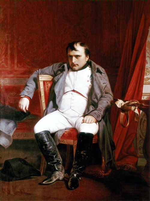 Napol  233 on Bonaparte abdicated in FontainebleauDelacroix Napoleon