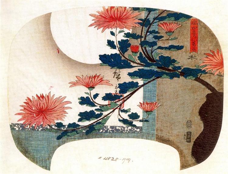 Chrysanthemums - Hiroshige
