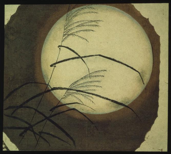 Wind Blown Grass Across the Moon - Hiroshige