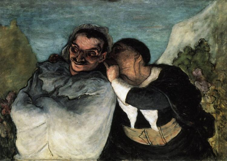 Crispin and Scapin, c.1863 - c.1865 - Honore Daumier