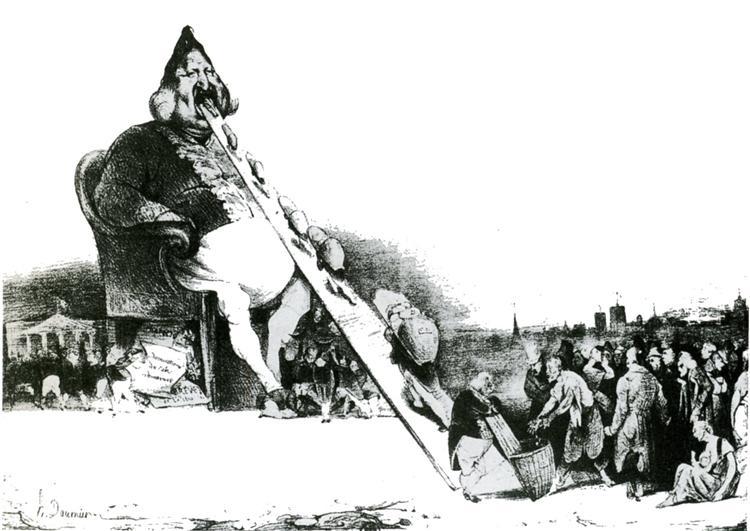 Gargantua, 1831 - Honore Daumier