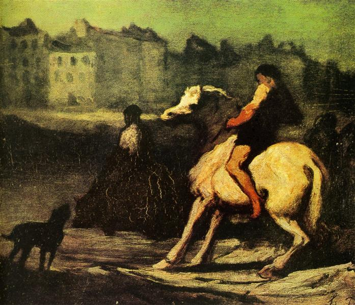 The Feeding Trough - Honore Daumier
