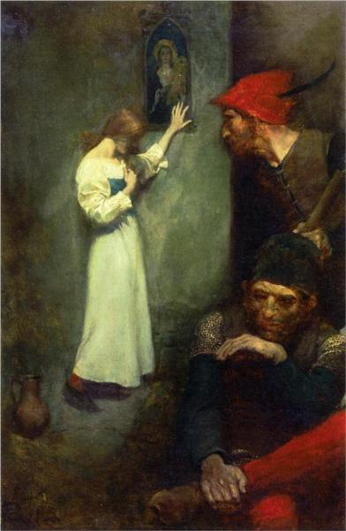 Guarded by Rough English Soldiers, 1904 - Howard Pyle
