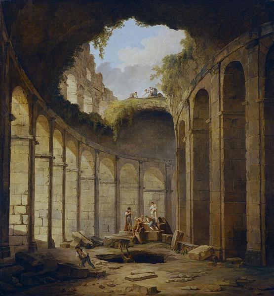 Colosseum Rome 1790 Hubert Robert Wikiart Org