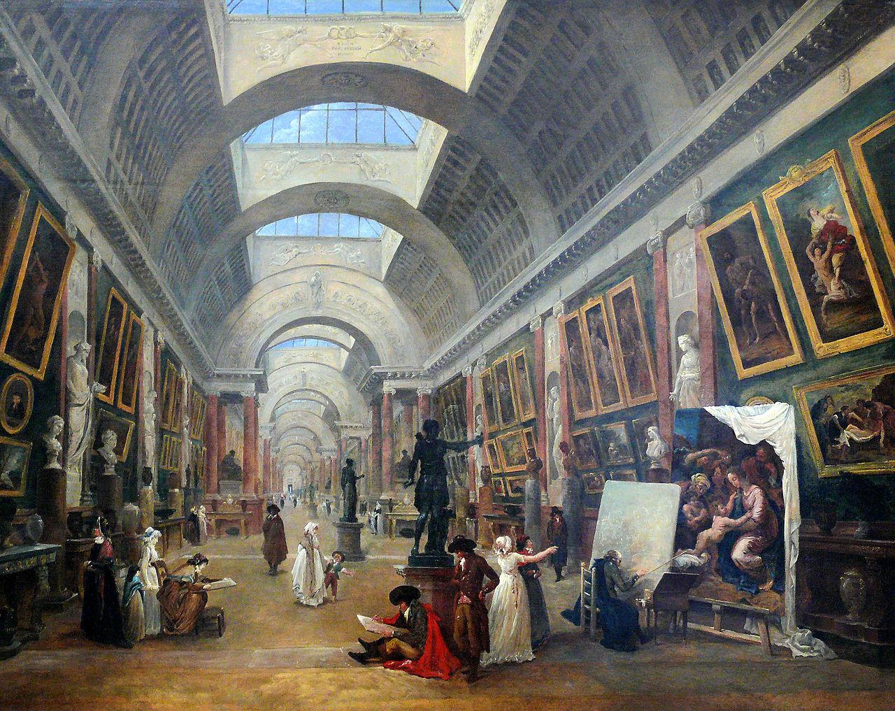 Projet d'aménagement de la Grande Galerie du Louvre, 1796