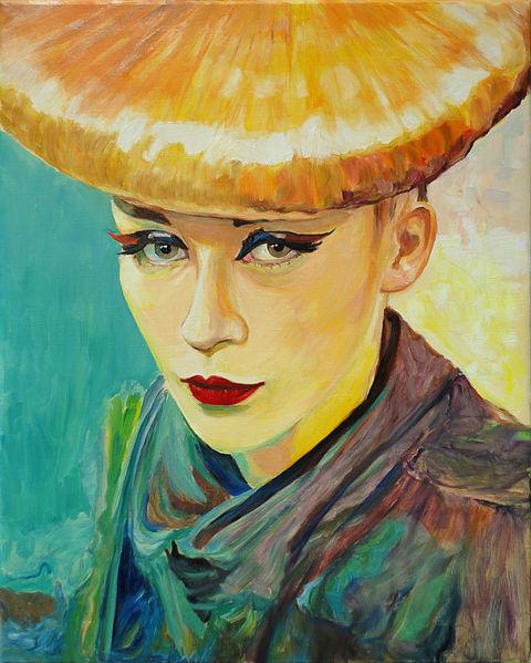 Portrait of a Supermodel - in oil painting - Hubertine Heijermans