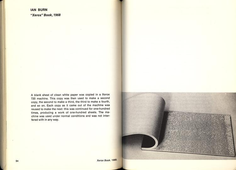 Xerox Book, 1968 - Ian Burn